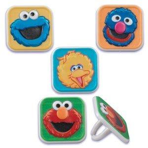 Sesame Street Character Cupcake Rings - 12 ct
