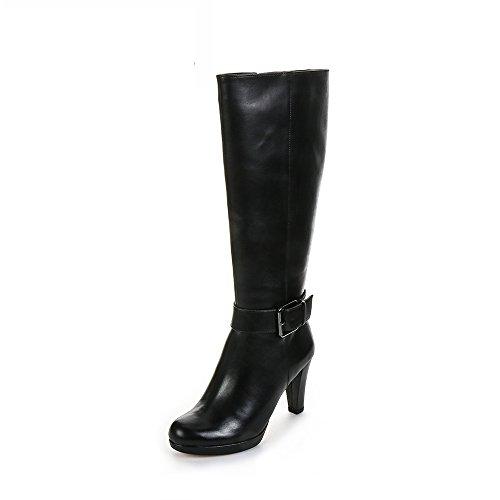 Clarks Kendra Glaze, Damen Langschaft Stiefel, Schwarz (Black Leather), 40 EU