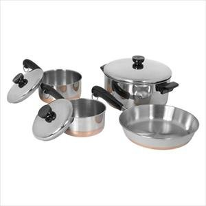 Revere 1042262 7 Piece Stainless Steel Copper-Clad Bottom Set