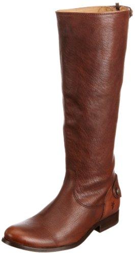 Frye Mellissa Button Back Zip Womens Knee High Boots Mellissa Button Back Zip Brown 5 UK, 38 EU, 7 US