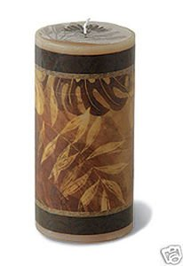 Hawaii Decal Candle Tropical Foliage 3 x 6 in.