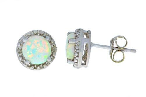 opal-diamond-round-stud-earrings-14kt-white-gold