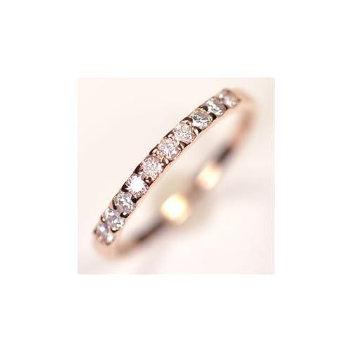 [キュートジュエリー]Cute jewerly ダイヤモンド 指輪 K18PG ダイヤ0.25ct (鑑別書カード付) エタニティー10リング 11