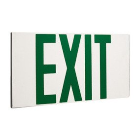Elco Lighting Self Illuminating Exit Sign Green Letters
