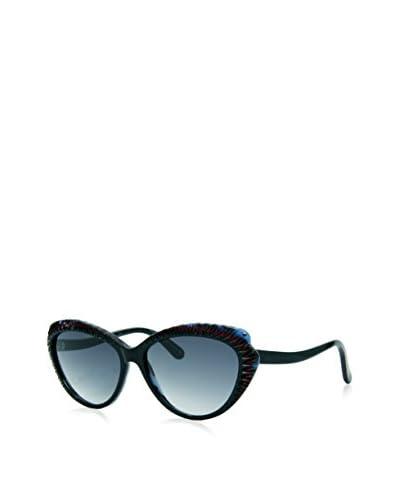 Alexander McQueen Occhiali da sole AMQ 4197/S K65 (56 mm) Nero/Bordeaux/Blu