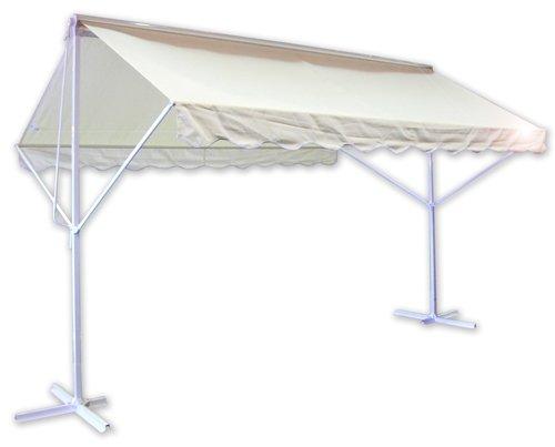 mezoo mado mobile markise sonnenschutz beige 4m x 3m alumarkise standmarkise testberichte kaufen. Black Bedroom Furniture Sets. Home Design Ideas