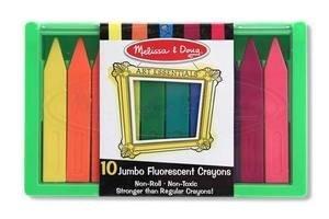 Melissa  Doug Jumbo Florescent Crayons