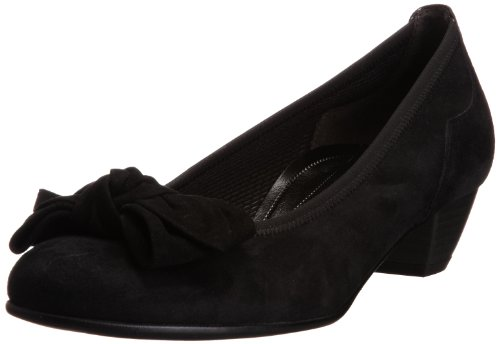 Gabor Womens Lunar S Black Court Shoes 76.112.47 6.5 UK, 39 EU