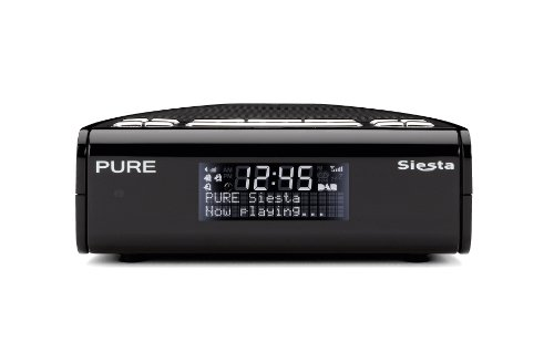 PURE Siesta, DAB/FM Clock Radio - Black
