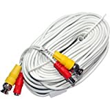 LTS LTAC2060W 60 Foot All-in-One BNC Video and Power Cable with Connectors, White