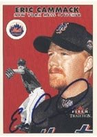 Eric Cammack Norfolk Tides - Mets Affiliate 2000 Fleer Tradition Autographed Hand... by Hall of Fame Memorabilia