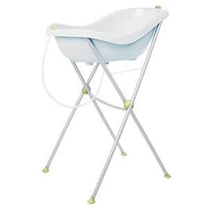 B b confort baignoire ergonomique avec support blanc b b s pu riculture - Baignoire et support bebe ...