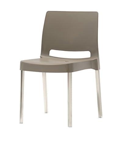 PEDRALI Chair Set van 2 Joi 870 grijs