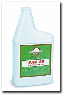 FJC Air Conditioning Products - OE Viscosity PAG Oil 46 with Fluorescent Leak Detection Dye, quart (2494)