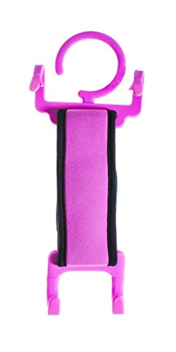 TABI- Stretch it on! - 2-In-1 Travel Stand/Holder that works virtually with all large smartphones and tablets. With its adjustable stretch band Pink