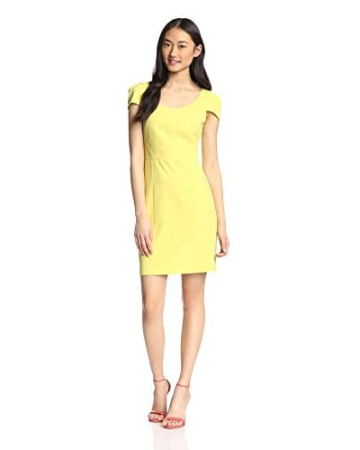 4.collective Women's Solid Crepe Capsleeve Dress