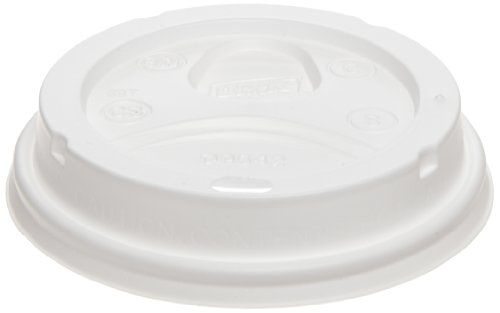 Dixie D9542 Dome Lid For 10-16 Oz Perfectouch Cups And 12-20 Oz Paper Hot Cups, White (10 Packs Of 100)