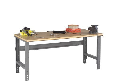 Workbench adjustable leg wood top w d huge
