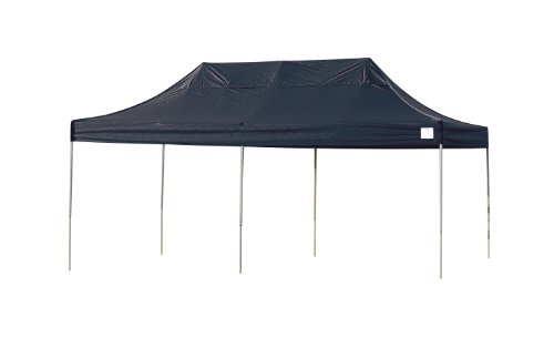 ShelterLogic Pro Series Truss Pop-Up Canopy, Black, 10 x 20-Feet