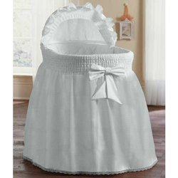 Precious Bassinet Liner/Skirt & Hood Color: White - Size: 17Inch X 31Inch back-249226