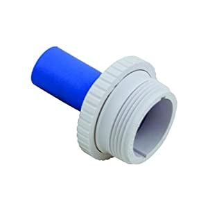 Hayward SP1420 Hydrostream Inlet Fitting Super Directional Nozzle with 1-Inch Rubber Nozzle and 1-1/2-Inch MIP Thread