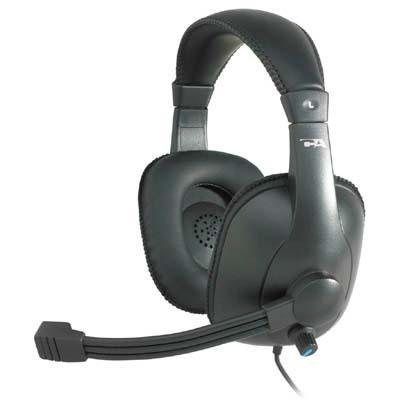 Cyber Acoustics Ac-960 Oem Pro Grade Headset/Micvolume Adj Headband Leatherette Ear Pad