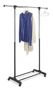 Whitmor Whitmor 6021-4298 Ebony Chrome Collection Extendable Garment Rack