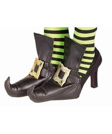 Witch Shoe Covers w/ Gold Buckle Adult Halloween Accessory
