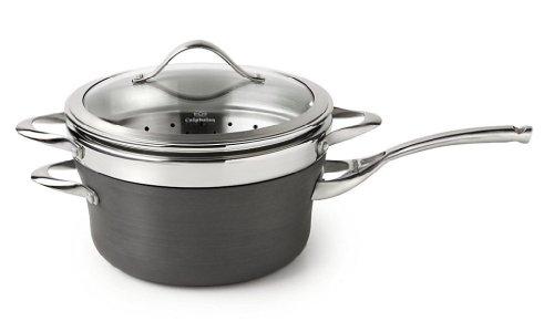 Calphalon Contemporary Hard-Anodized Aluminum Nonstick Cookware, Steamer Insert, 4 1/2-quart, Black
