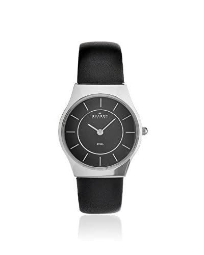 Skagen Women's 233SSLB Classic Black Leather Watch