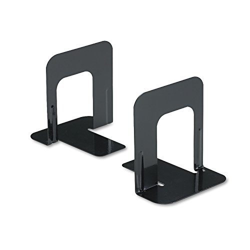 innovera-nonskid-heavy-gauge-steel-universal-economy-bookends-4-3-4-x-5-1-4-x-5-inches-black-2-booke