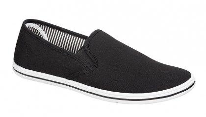 Uomo con Lacci Slip On Pompe scarpe sneaker Espadrilles Scarpe Tela Bambino, taglia adulto UK 7-12, nero (Black), 44 EU Adulto