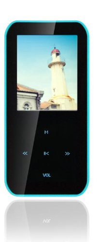 Latte LP-IPEARLS4GBLU 4 GB MP3 Player with 1.8-Inch Screen, FM Radio, Video Playback and Memory Expansion (up to 16GB) - Blue