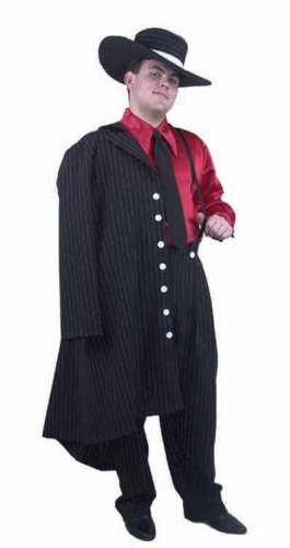 Zoot Suit Black White Pinstripe Adult Costume 01716