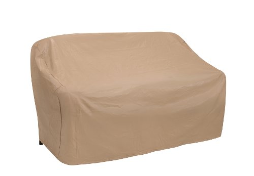 Protective Covers Weatherproof 2 Seat Wicker/Rattan Sofa Cover, Large, Tan