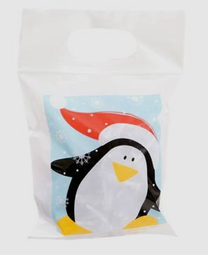 36 Adorable Christmas Party Favor Bags: Zip Lock Closure, Assorted Designs - Penguin, Santa & Snowman (7