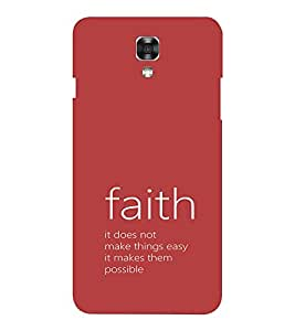 EPICCASE Faith makes it possible Mobile Back Case Cover For LG X Power (Designer Case)