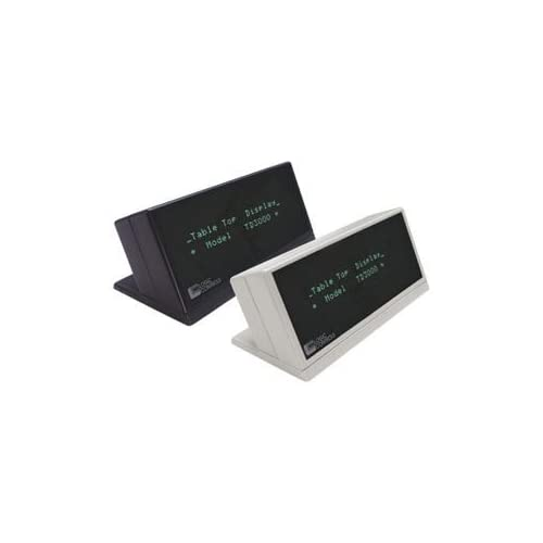 Logic Controls TD3900 Table Top Display. TABLETOP DISPLAY 5MM 2X20 RS232 AVAILABLE STOCK ONLY NO BACKORDERS PP PD. Green Blue   VFD   20 x 2   Serial   Gray