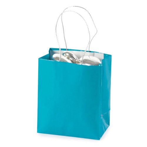 Mini Turquoise Gift Bags (2 dz)