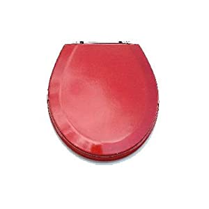 Trimmer Premium Metallic Red Wood Toilet Wood Seat Toilet Lid