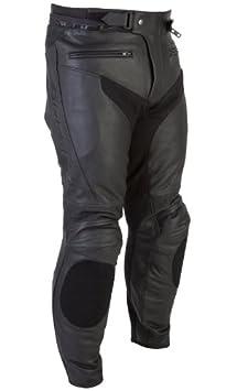 Nouveau 2015 Spada moto cuir pantalon Nero noir