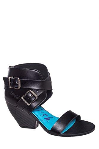 Bams Mid Heel Sandal