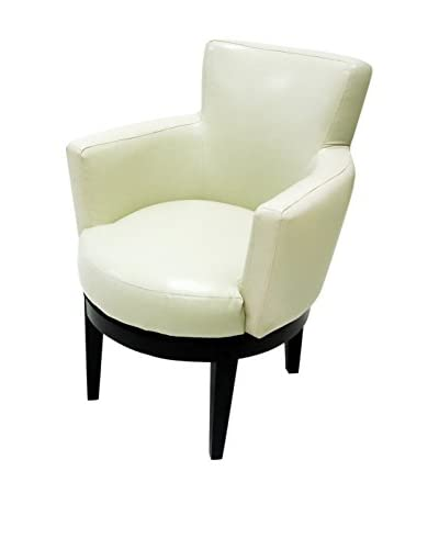 Armen Living Swivel Club Chair, Cream
