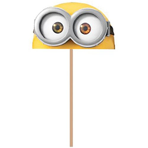 New Wilton 2113-4600 Despicable Me Minions Fun Pix Cupcake Toppers, Pack of 18, Yellow - 1