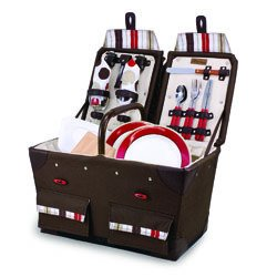Picnic Basket for 2 with Blanket - Moka