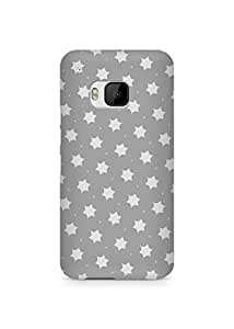 Amez designer printed 3d premium high quality back case cover for HTC One M9 (simple grey stars)
