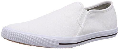 KangaROOS KangaVulcT 2078 A, Low-Top Sneaker unisex bambino, Bianco (Weiß (white 000)), 34