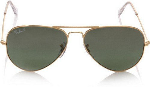 Ray-Ban 0RB3025 Aviator Unisex Adult Sunglasses,Gold Frame/Brown-pink Silver Mirror LensOne Size