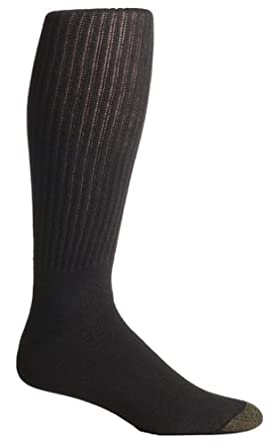 Gold Toe Men's Cotton Over the Calf Athletic Sock 3-Pack, Black,  Size: 6-12 1/2