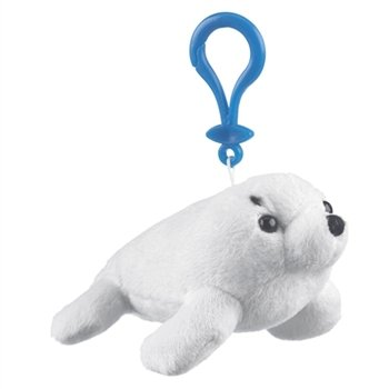 Harp Seal Plush Stuffed Animal Backpack Clip Toy Keychain WildLife Hanger